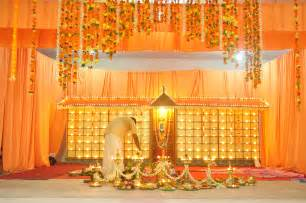 wedding entrance backdrop kalyana mandapam decorations floral design kannur
