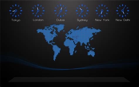 Digital World Wallpaper Hd by Black Background World Map Time Zones Digital