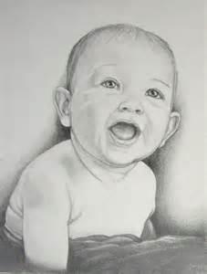 Portrait Pencil Sketch Babies