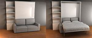 brilliant space saving bed and sofa murphy sofa bed With wall mounted sofa bed