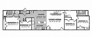 Single Wide Mobile Homes Floor Plans Designs Ideas