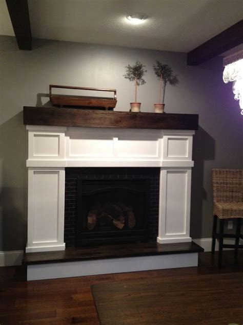 love  mantle  surround faux fireplace diy home