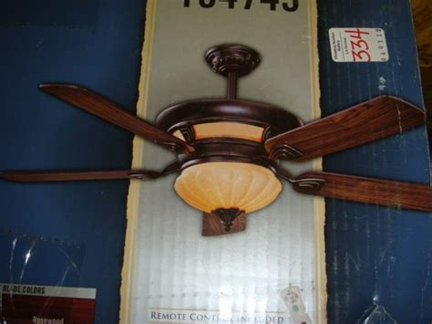hunter exeter ceiling fan 334 harbor breeze 56 quot exeter ceiling fan lot 334