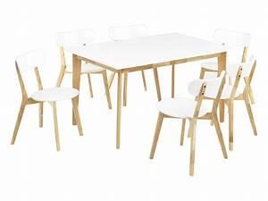 Table à Manger Pas Cher : ensemble table carine 6 chaises colette table manger vente unique ventes pas ~ Teatrodelosmanantiales.com Idées de Décoration