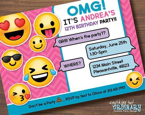 emoji invitation printable emoji birthday invite s emoji
