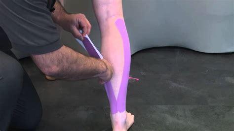 Applying D3 K6 0 Kinesiology Tape For Calf Pain Youtube