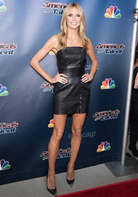 Heidi Klum Wears Black Mini Dress America Got Talent