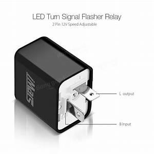2pcs Imars U2122 2 Pin Speed Adjustable Flasher Relay Dc 12v