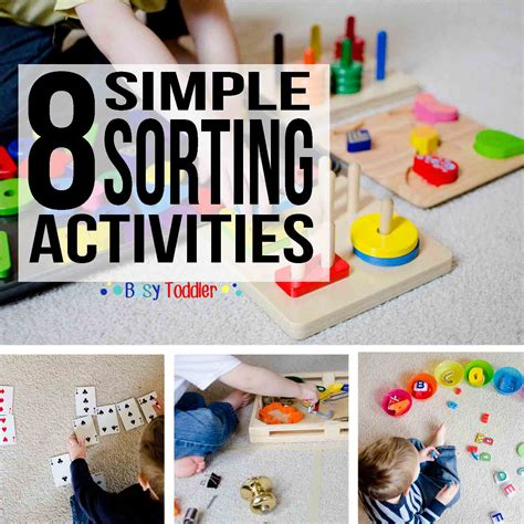 8 simple sorting activities for toddlers busy toddler 830 | SORTINGROUNDUP