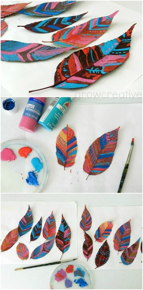 25 best ideas about painted leaves on