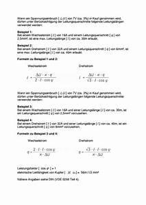 Amper Berechnen : leitungsquerschnitt berechnen ~ Themetempest.com Abrechnung