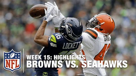 browns  seahawks week  highlights nfl youtube