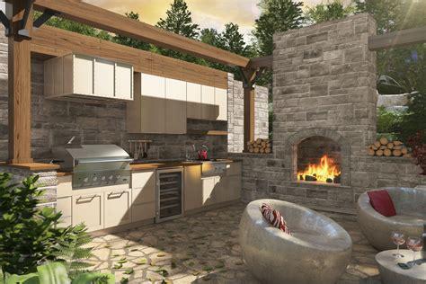 cuisine exterieur armoires de cuisine tendances concept cuisine extérieure