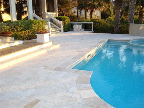 modern pool coping classic ivory travertine pavers modern pool ta by travertine warehouse