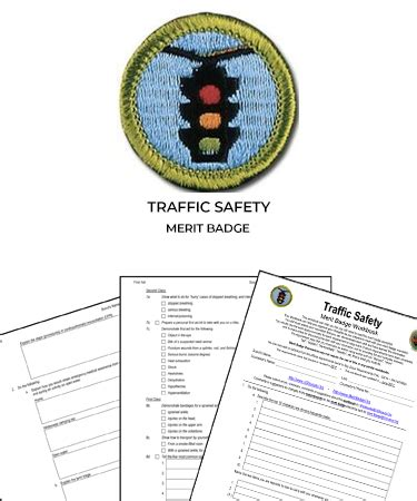traffic safety merit badge worksheet requirements