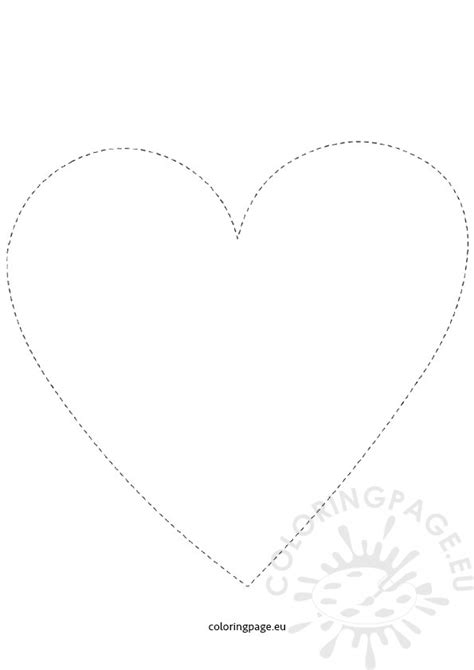 printable heart tracing coloring page