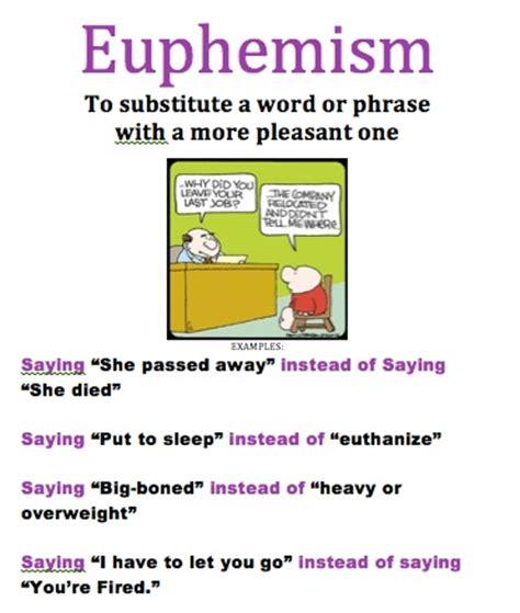 euphemism exles in literature images