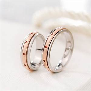 silver age couples rings rose gold spinner rings set with With spinner wedding ring sets