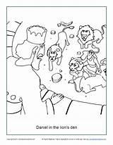 Den Daniel Lions Coloring Lion Bible Activities Pages Crafts Children Activity Sunday Word Printable Colouring Sundayschoolzone Line Preschool Stories Sheets sketch template