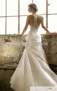 ry0077 2015 new style lvory white sexy halter backless With halter style wedding dresses