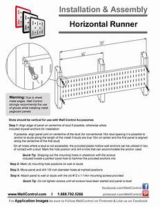 Instructions On How To Install Wall Control Horizontal
