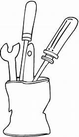 Tools Coloring Freecoloringpagefun Pages Print sketch template
