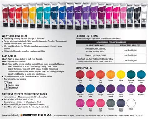 Joico Color Intensity Fact Sheet Color Intensity's