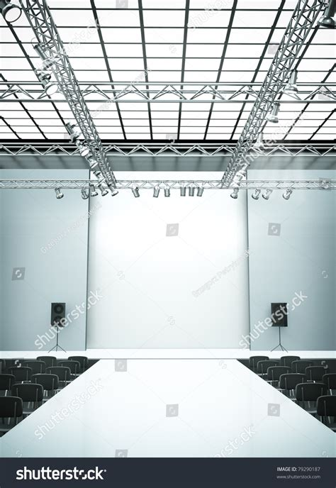empty fashion show stage runway  stock illustration