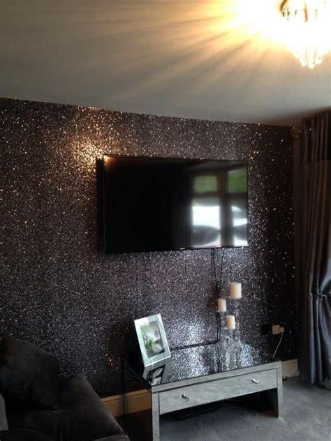 beautiful black glitter wallcovering sold   metre