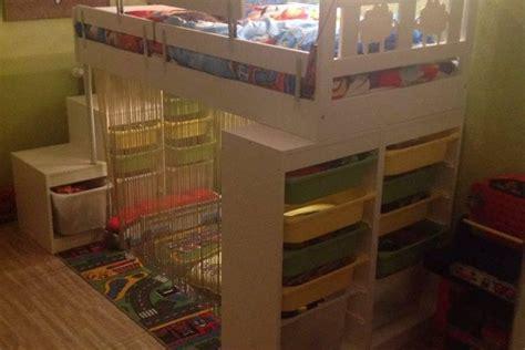 ikea meubles de bureau lit kritter customisé pour enfant bidouilles ikea