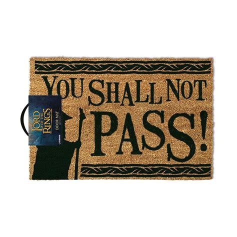you shall not pass doormat felpudo you shall not pass