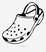 Crocs Coloring Clipart Croc Pages Pinclipart sketch template
