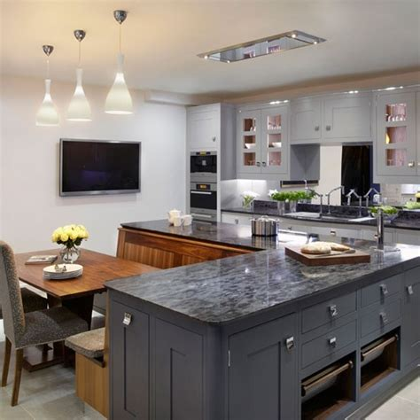 kitchen design ideas uk painted family kitchen with dining nook family kitchen