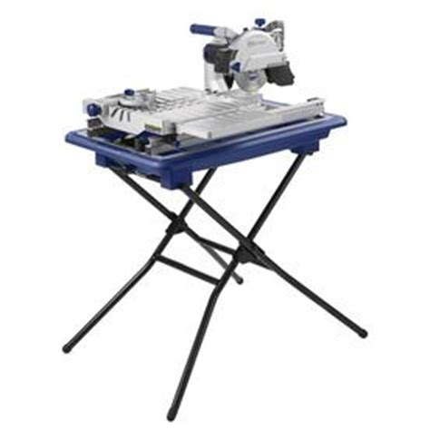 kobalt 7 in wet dry tabletop sliding table tile saw with