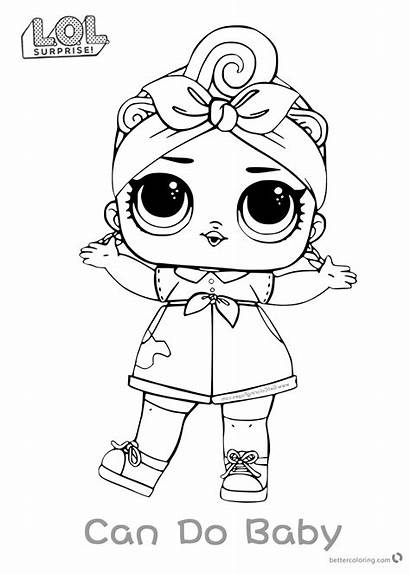 Lol Coloring Surprise Doll Pages Dolls Series