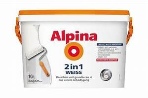 Alpina Wandfarbe Weiß : alpina innenfarbe wandfarbe 2 in 1 wei 10 l wandfarbe ~ Articles-book.com Haus und Dekorationen