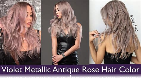 Violet Metallic Antique Rose Hair Color