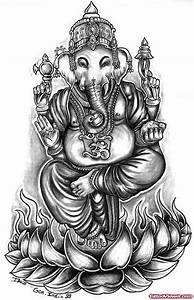 Elephant Head Lord Ganesha Tattoo Design | Tattoo Viewer.com