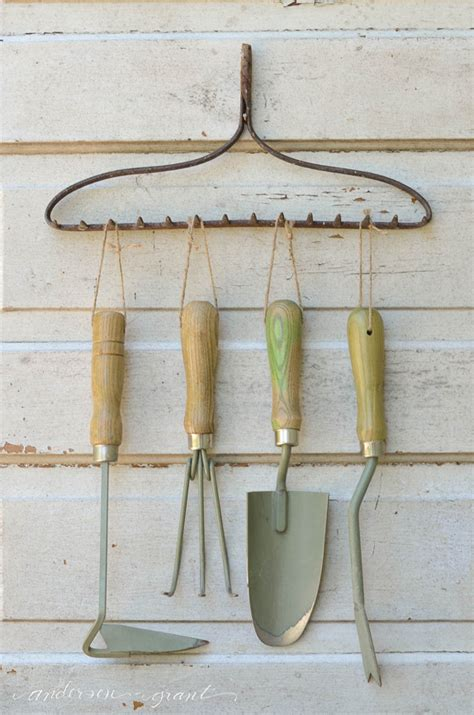 Organizing Garden Tools With A Repurposed Rake Anderson