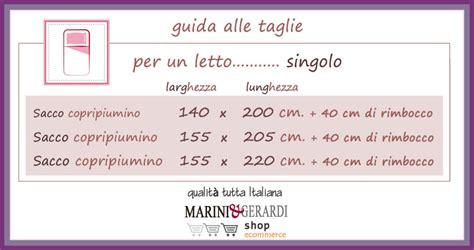 Misure Copriletto Matrimoniale by Sacco Copripiumino Misure Guida Alle Taglie