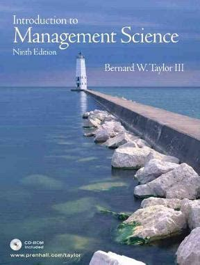 Introduction to Management Science | Buy | 9780131888098 ...