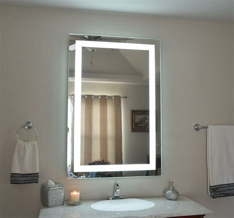 Bathroom Mirror Lights Led by Lighted Bathroom Vanity Make Up Mirror Led Lighted Wall