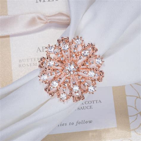 Antique Napkin Ring in Rose Gold Totally Dazzled