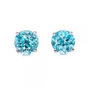 gemstone engagement rings blue topaz stud earrings 100929