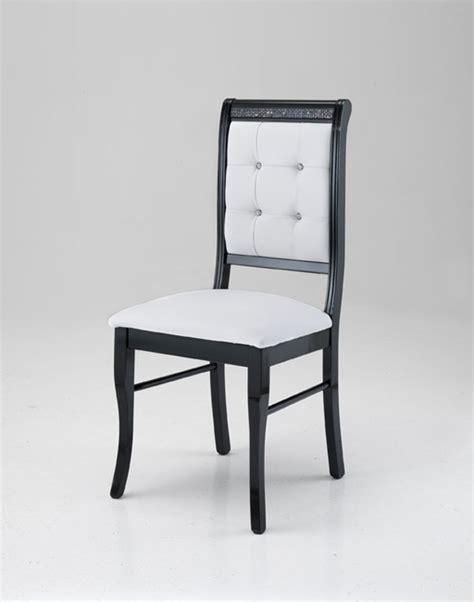 chaise noir et blanc chaise prestige noir blanc