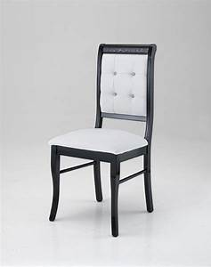 Chaise Salle A Manger Noir : chaise prestige noir blanc ~ Teatrodelosmanantiales.com Idées de Décoration