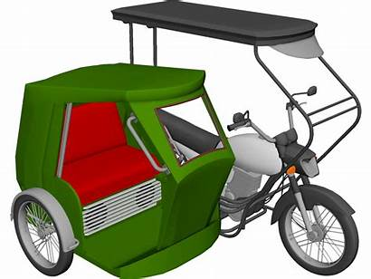 Tricycle Philippine Clipart Philippines 3d Drawing Motorcycle