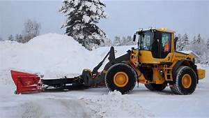 Ice Ripping With Volvo L90f And Siljum Mekan Ice Ripping Blade