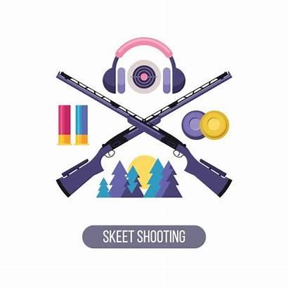 Skeet Shooting Vector Sports Club Clay Trap