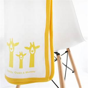 personalised new baby gift set, giraffe family by heather ...